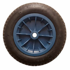 "Wheelbarrow REPLACEMENT 2 x 14"" Wheel Pneumatic Inflatable Tyre 3.50-8 S247 BLUE"