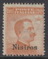 ITALY - EGEO - NISIROS n 11 MNH** cv 540$ with watermark with CERTIFICATE