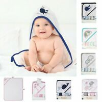 6 Pack Baby Hooded Bathrobe Child Toddler Bathing Towel Washcloth Face Wipes