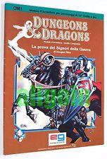 Dungeons & Dragons LA PROVA DEI SIGNORI DELLA GUERRA (CM1) EG D&D Set Companion