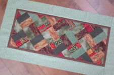 Unfinished Quilt Top - Table Runner - FALL - AUTUMN - Browns Greens Reds Orange