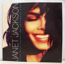 45T MAXI JANET JACKSON Disque Vinyl LOVE WILL NEVER DO WITH YOU - AM 390606-1