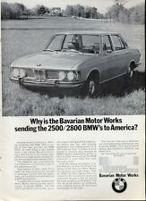 "1969 BMW '2800' Bavaria Motor Works Sports Coupe ""Sending to America""  PRINT AD"