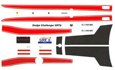 SRT 8 Dodge Challenger Stripes 1/24th - 1/25th Scale Waterslide Decals