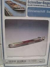Binnenschiff Barge Schiff Kartonbausatz *NEU* Schreiber- Bastelbogen