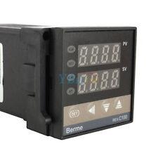 Dual LED PID Temperature Controller REX-C100 + Max. 40A SSR +K Type Probe Sensor