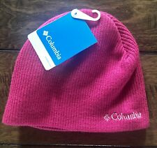 NWT Columbia Youth Whirlibird Watch Cap Hat Beanie Fuchsia Youth One Size