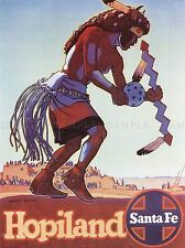 TRAVEL TOURISM NATIVE AMERICAN HOPI INDIAN USA LARGE POSTER ART PRINT BB2859A