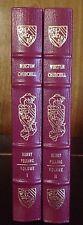 Winston Churchill by Henry Pelling, Easton Press 1991  2 Volume Set, Leather