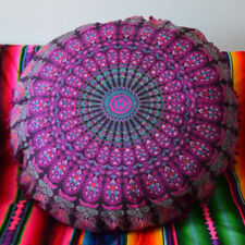 "Indian Mandala Floor Cushion Cover Decor Round Throw Cotton Pillow Case 32"" Inch"