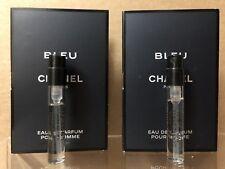 Chanel Bleu De Chanel Men 2 Pcs Sample Vials 2 x 0.05 oz / 1.5 ml EDP Spray