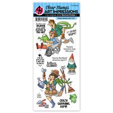 Art Impressions Gotta Garden Birthday Clear Acrylic Stamp Set 5000 NEW!