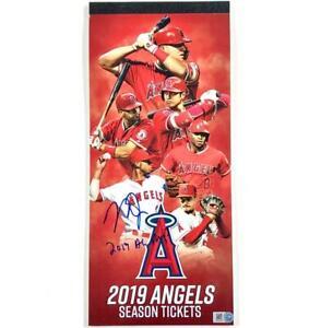 "Mike Trout ""2019 AL MVP"" signed Angels full Season Ticket Book MLB Holo Hologram"
