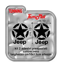 jeep renegade kit adesivi stella  per porte auto cherokee rubicon wrangler geep