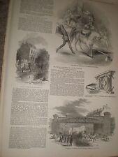 Cirque National Drury lane & Blackwall extension railway bridge London 1849