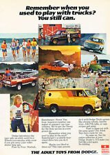 1977 Dodge Van Warlock Ramcharger Truck Original Advertisement Car Print Ad J503