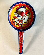 Vintage Tin Litho Noise Maker – Kirchhof – LIFE OF THE PARTY Clown Clapper
