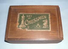 shabby Antique chess pieces by Jaques London vintage retro decorative display