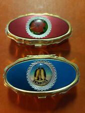 Decorative Pill Boxes Set Of Two Souvenir Pill Boxes