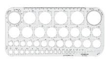 Staedtler Mars Círculo Plantilla Stencil - 45 círculos de 1mm a 36mm (576 01 F)