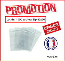 PROMOTION !! Lot 1000 Sachets ZIP 40x60, pochettes, sacs plastique transparents