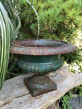 Antique French Cast Iron Garden Planter Urn