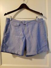 Men's 32 J CREW Original Tab Swim Trunk Shorts Vintage Style Blue Gray 6.5 ins