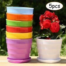 5 x Large Plastic Round Garden Plant Pot Flower Pot Planter Pots Home Decoration