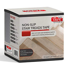 "Stair Treads Non-Slip Tape 4""x24"" Inch Pack of 15 Indoor/Outdoor Carpet Runners"