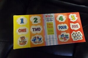 Vintage 1967 SIFO 3 Way Puzzle Numbers One to Ten 1-10 BRAND NEW FACTORY SEALED!