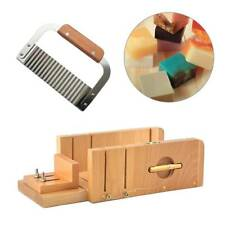 2PCS Adjustable Loaf Soap Cutter Wooden Box With Wavy Slicer Cutting Tools Set