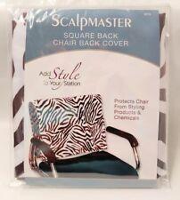 Scalpmaster Salon Square Water Resistant Chair Back Cover Zebra Print #4076