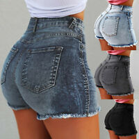 Women Summer Short Jeans Denim Female Pockets High Waist Zipper Shorts Hot Pants