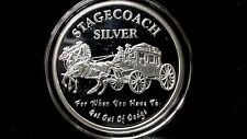 1 oz Stagecoach 1/4 Divisible Bars .999 Silver
