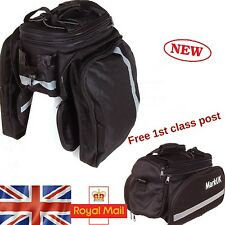 Bicycle Rear Rack Bag Pack Pannier Trunk Bag Storage Bike Cycle  Waterproof
