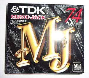 Sony Mini Disc - 74 Minute Blank Recordable     MD-MJ74         [New - Sealed]