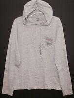 POLO RALPH LAUREN Mens Gray USA Flag 67 Pocket Hoodie L/S T-Shirt NWT Size XL