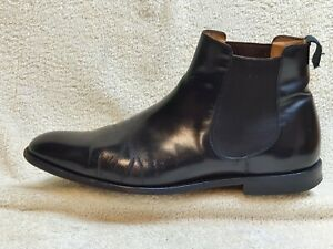 Church's mens Chelsea Boots all Leather Black UK 8.5 F EUR 42.5