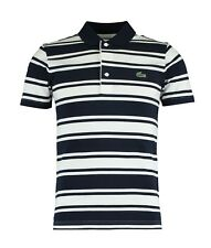 Lacoste Sport Polo Shirt-XXXL T8-Bleu Marine & Rayure Blanche-YH1330-Bnwt