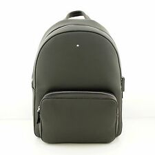 Man Backpack MONTBLANC SOFT GRAIN black leather rucksack for laptop new 113950