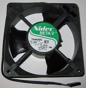 Fan Nidec beta V Server TA450DC 12cm x 12cm Thermosensor New