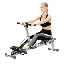 Indoor Foldable Rowing Machine With 12 Adjustable Resistance Home Gym Equipment