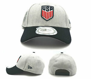 USA Soccer New Era 9Forty World Cup United States of America Gray Blue Hat Cap