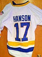 Mad Brothers Jack Hanson Charlestown Chiefs #16 Slap Shot Hockey Jersey 2 Colors