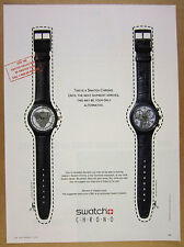1992 Swatch Watch CHRONO Colossal & Timeless Zone models photo vintage print Ad