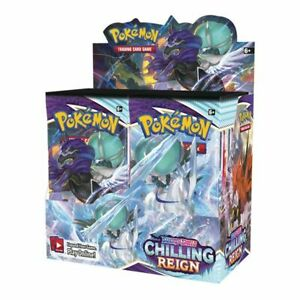 Pokemon Sword & Shield Chilling Reign Booster Pack - New & Sealed - Free P&P