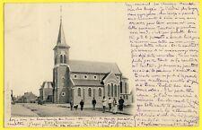 cpa Dos 1900 VIRY NOUREUIL (Aisne) L'EGLISE NEUVE Animés Curé Ed. RONAT, CHAUNY