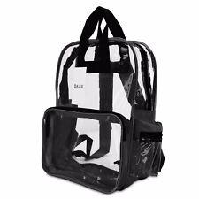"DALIX 17"" Large Plastic Vinyl Clear Transparent School Security Backpack"