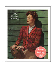 1940's Fair Isle Jacket - Wartime Knitting Pattern - Copy