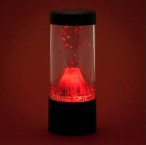 Round Red Lava Erupting Mini Volcano LED Lamp